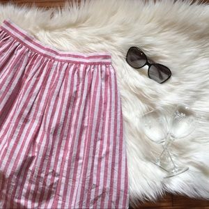 Romeo & Juliet Couture Red and White Stripe Skort